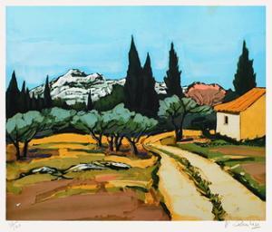 Provence : paysage des Alpilles by Jean Claude Quilici