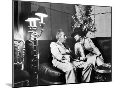 Jean Cocteau and Coco Chanel-Luc Fournol-Mounted Photo