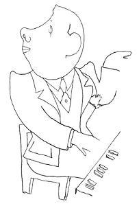 Francis Poulenc (1899-1963) by Jean Cocteau