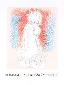 Homage a Fernand Mourlot by Jean Cocteau