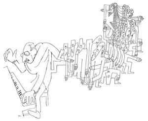 Igor Stravinsky (1882-1971) by Jean Cocteau