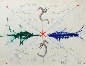 L'âge du verseau : poissons et hyppo by Jean Cocteau