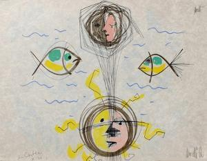 L'âge du verseau : visages et poissons by Jean Cocteau