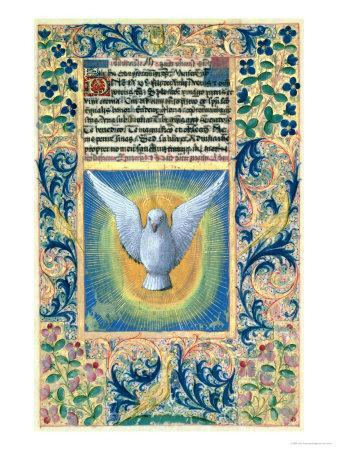 Holy Spirit, from the Book of Hours of Louis D'Orleans, c.1469