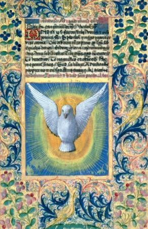 Holy Spirit, from the Book of Hours of Louis D'Orleans, c.1469 by Jean Colombe