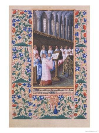 Illustration of a Funeral Service, from the Book of Hours of Louis DOrleans, 1469
