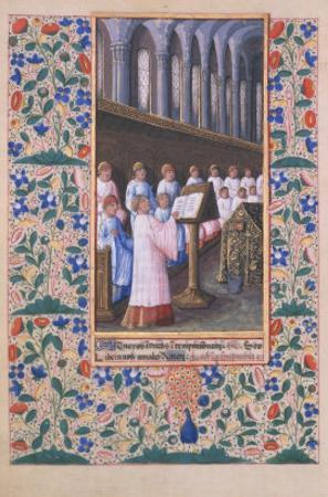 Illustration of a Funeral Service, from the Book of Hours of Louis DOrleans, 1469 by Jean Colombe