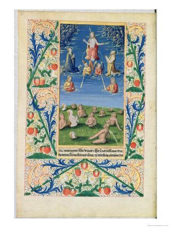 Resurrection of the Saved, from the Book of Hours of Louis D'Orleans, 1469