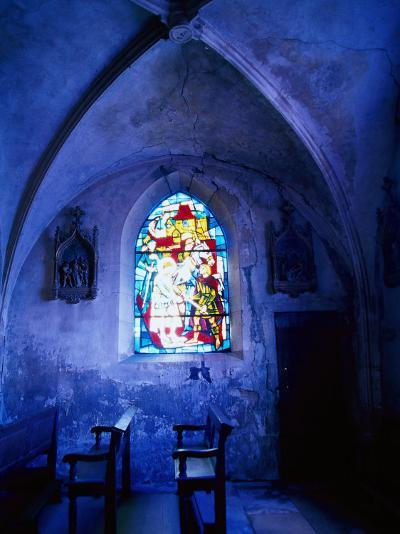 Jean D'Arc Stained Glass in Church, France-Bruce Clarke-Photographic Print
