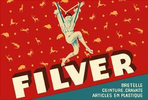 Filver Products - Suspenders, Belts, Ties (Bretelle, Ceinture, Cravate) by Jean D'Ylen