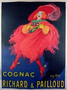 Poster Advertising Cognac Distilled by Richard and Pailloud by Jean D'Ylen