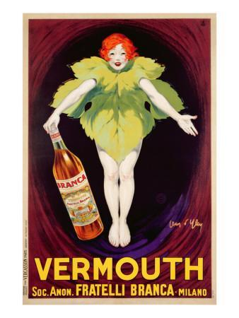 Poster Advertising 'Fratelli Branca' Vermouth, 1922