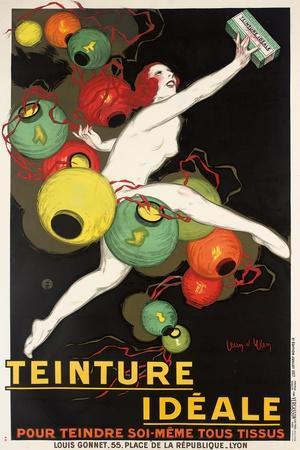 'Teinture Idéale'. Werbeplakat für 'Idéale' Textilfarben. 1927