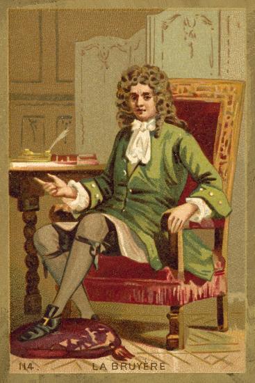 Jean De La Bruyere, French Philosopher--Giclee Print