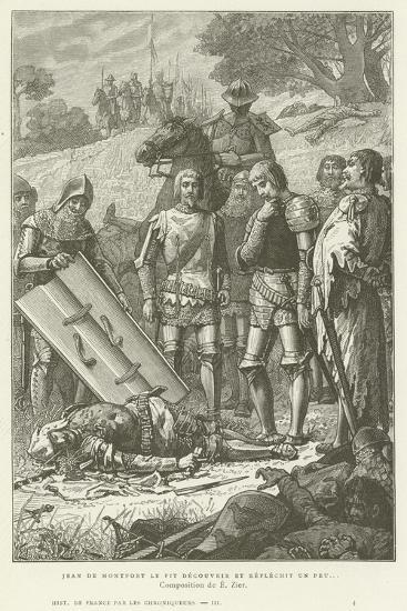 Jean De Montfort Discovering the Body of Charles of Blois after the Battle of Auray, 1364--Giclee Print