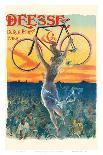 Deesse Bicycles - Paris, France - Nude Winged Goddess-Jean de Paleologue-Art Print