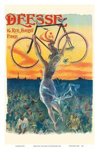 Deesse Bicycles - Paris, France - Nude Winged Goddess by Jean de Paleologue
