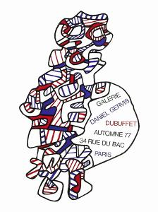 Expo Galerie Daniel Gervis by Jean Dubuffet