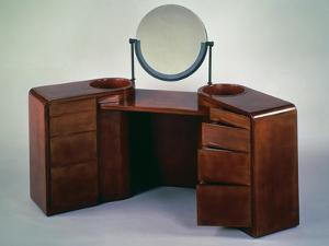 Art Deco Style, Cubist Inspired, Lacquered Dressing Table, 1925-1930 by Jean Dunand