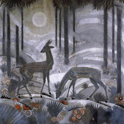 Two Deer in a Forest. C. 1929
