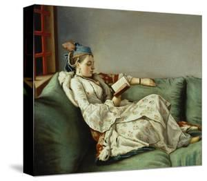Maria Adelaide Reading by Jean-Etienne Liotard
