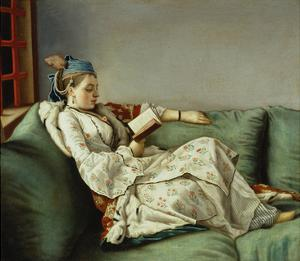 Maria Adelaide Reading by Jean-Etienne Liotard