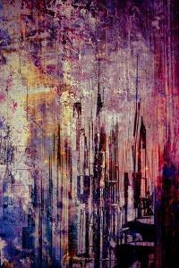 Abstract City Scene in pink by Jean-Fran?ois Dupuis