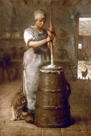 Churning Butter, 1866-1868 by Jean-Fran?ois Millet