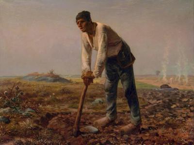 Man with a Hoe, 1860-1861 by Jean-Fran?ois Millet