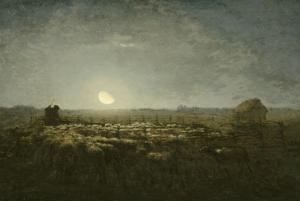 Parc �outons, clair de lune by Jean-Fran?ois Millet