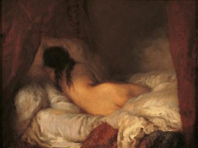 Reclining Female Nude by Jean-Fran?ois Millet