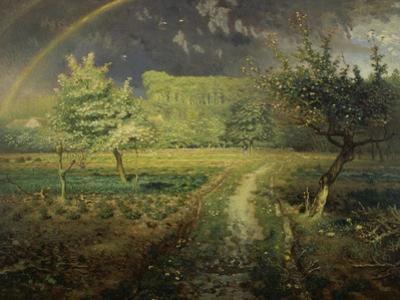 Spring Landscape with Rainbow (Le Printemps), 1868/73 by Jean-Fran?ois Millet