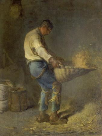 Un Vanneur (Separate the Wheat from the Chaff), 1866-1868 by Jean-Fran?ois Millet