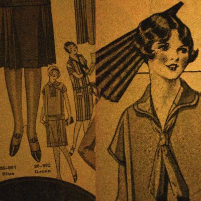 Vintage Girlwear 1925 (Yellow)