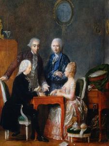 The Backgammon Play by Jean Francois Garneray