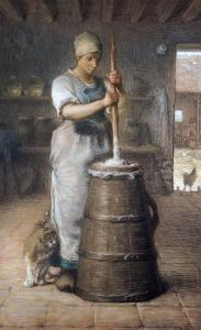 Churning Butter, 1866-68 by Jean-François Millet