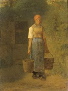 Girl Carrying Water by Jean Francois Millet