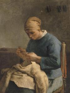 La couseuse by Jean-François Millet