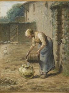 La femme au puits by Jean-François Millet