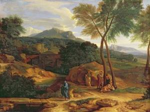 Landscape with Conopion Carrying the Ashes of Phocion by Jean-François Millet
