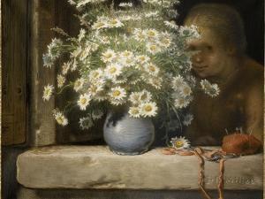 Le bouquet de marguerites by Jean-François Millet