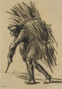 Le vieux b�cheron (vers 1845-1847) by Jean-François Millet