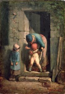 Maternal Care, 1855-57 by Jean-François Millet