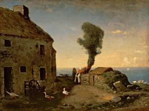 Millet's Birthplace at Gruchy by Jean-François Millet