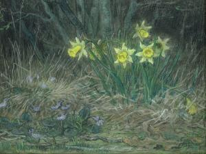 Narcissi and Violets, circa 1867 by Jean-François Millet