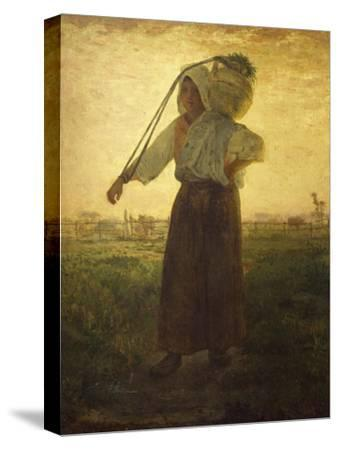 Norman Milkmaid in Greville, 1874
