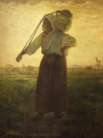 Norman Milkmaid in Greville, 1874 by Jean-François Millet