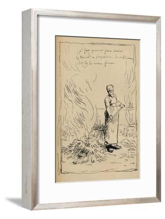 Peasant Burning Weeds, 19th Century