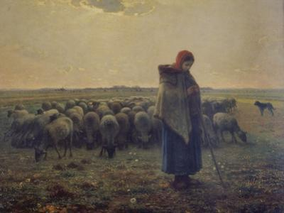 Shepherdess with Her Flock (La Grande Bergere), 1863