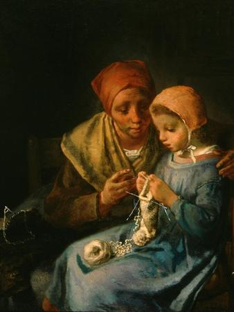 The Knitting Lesson, 1869